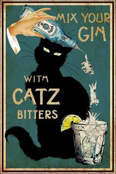 Crazy Cat Lady, Crazy Cats, Black Cat Art, Cat Signs, Cat Posters, Here Kitty Kitty, Vintage Cat, Cat Drawing, Funny Art