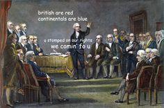 The Captioned Adventures of George Washington - we comin' fo u