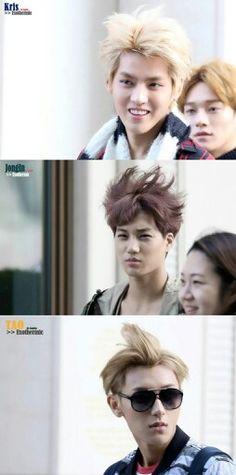 What the power of wind can do to an EXO member: bring back the Overdose era hair. Tao Exo, Chanyeol Baekhyun, 5 Years With Exo, Ugly Love, Wu Yi Fan, Exo Memes, Kaisoo, Korean Boy Bands, Kim Jong In