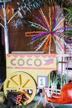 Today you're invited to Coco's fun-filled Pinoy fiesta a… - Independence Day Fiesta Decorations, Festival Decorations, 50th Party, Birthday Party Themes, Paskong Pinoy, Fiesta Theme Party, Carnival Themes, Happy Independence Day, Backdrops For Parties