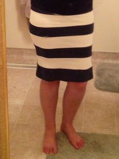 DIY pencil skirt from old t-shirts