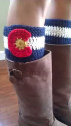 Colorado Flag Boot Cuffs by TheForgetMeKnots on Etsy, $20.00