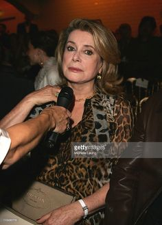Actress Catherine Deneuve at the Jean Paul Gaultier Fashion show during Paris Haute Couture Fashion Week Fall/Winter 2008 in Paris, France on July 4, 2007.