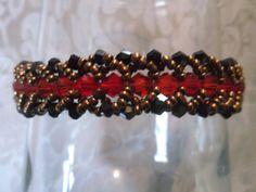 Crystal bracelet  Beaded bracelet  Bead by VictorianPunkJewelry, $20.00