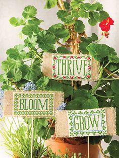Cross-Stitch - Holiday & Seasonal Patterns - Spring Patterns - Garden Signs