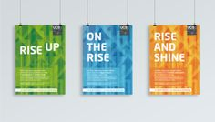 Posters designs for the student clearing campaigns at University Campus Suffolk.