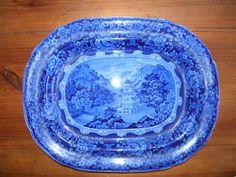 Beautiful Dark Blue Historical platter...