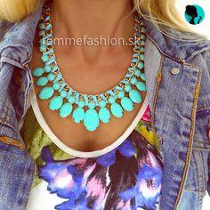 Náhrdelník Proudly Blue  http://femmefashion.sk/nahrdelniky/2327-nahrdelnik-proundly-blue.html
