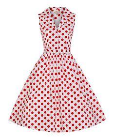 Loving this White & Red Polka Dot Matilda A-Line Dress on #zulily! #zulilyfinds