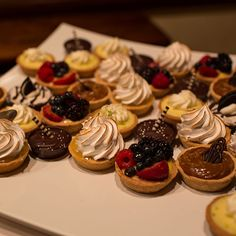Mini pies from Whole Foods instead of wedding cake (Emilia Jane Photography)