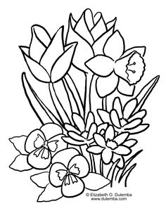 dulemba coloring page tuesday spring blooms