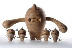 cute little wooden pieces by Johannesburg based designers Rowan Toselli and Lorne Schnugh.