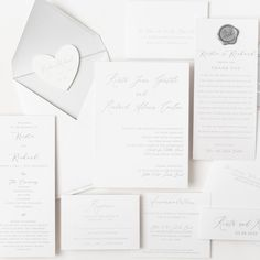 I had a great time designing this suite, and what I love most about it is the continuous theme. We designed each piece using the same color palette and fonts 🤍 this suite is timeless elegance Time Design, Business Events, Papers Co, Timeless Elegance, Fonts, Stationery, Palette, Place Card Holders, Personalized Items