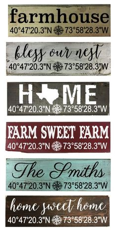 Home Coordinate Shiplap Signs CUSTOM by southernchicbyle on Etsy