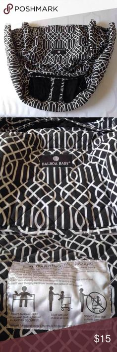 Balboa Baby Shopping Cart Cover In good condition  Fading from normal washing  Black/White design Can bundle ship  Check out my kids listings  Thank you Balboa Baby  Other