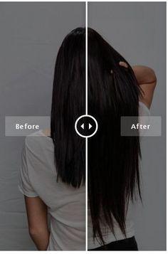 Before and AFTER using Bellami Hair extensions in Off Black (1B) #bellamihair #teambellami #transformation Use code PINMI for savings!: