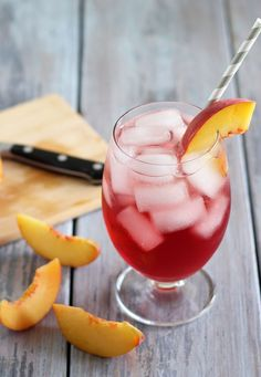 Cheers to celebrating with this delicious Cranberry Peach Cocktail!