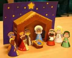 Didi @ Relief Society: Borrowed from the Blogs - Nativity Play Set For Kids
