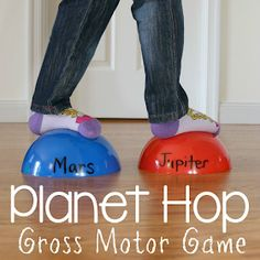 Planet Hop Practice naming the planets in order in this gross motor game Outer Space Activities, Space Theme Preschool, Space Games, Gross Motor Activities, Science Activities For Kids, Class Activities, Toddler Activities, Planets Preschool, Planets Activities