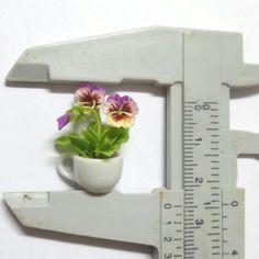 dollhouse miniature pansy flower garden