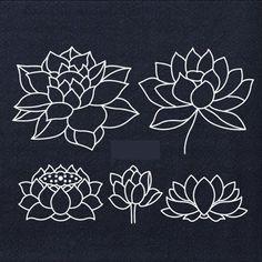 Lotus Sashiko Acrylic Stencil for Sashiko Stencil Quilting Stencil - Patchwork Sashiko Embroidery Pattern - Traditional by MaterialsByOnlygirl on Etsy Hand Embroidery Design Patterns, Embroidery Materials, Embroidery Transfers, Floral Patterns, Textile Patterns, Quilt Patterns, Sashiko Embroidery, Felt Embroidery, Japanese Embroidery