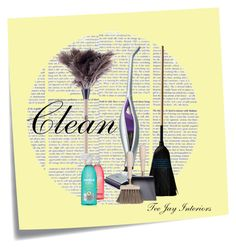 """Clean- Tee Jay Interiors"" by teejayinteriors ❤ liked on Polyvore featuring interior, interiors, interior design, home, home decor, interior decorating, Post-It, Panasonic, Lostine and Fuller Brush"
