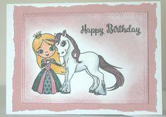 Princess Birthday Card, Unicorn Birthday Card, Birthday Card Girl, Birthday Card Handmade, Greeting Card Handmade by GluePaperScissorsCA on Etsy