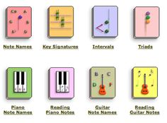 Online music theory flash cards