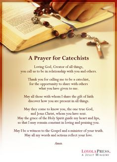 A Prayer for Catechists - Loyola Press
