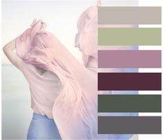 Модное сочетание 2016. Сочетание Розового и голубого с акцентом на бордовый оттенок добавляет некую строгость и контрастность. В эту палитру входят такие оттенки как серебряный серый (14-0000 ТСХ), цвет волокна (14-021 ТСХ), дымчатой орхидеи (16-2107 ТСХ), инжирный (19-1718 ТСХ), тимьяновый (19-0309 ТСХ), цвета вулканического стекла (18-3908 ТСХ)