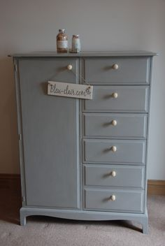 My latest commission piece.  A 'Stag' Gents Wardrobe painted with Paris Grey by Bleu-Clair.com x