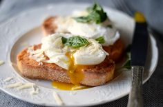 Eggs on Tomato Rubbed Garlic Toast  by cookedwithlovebymom: The breakfast of champions. crunchy,tangy,salty, smooth, savory. #Eggs #Toast #Garlic #Tomato