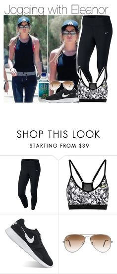 """Jogging with Eleanor"" by lucybitch ❤ liked on Polyvore featuring NIKE and Ray-Ban"