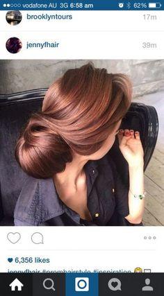 Hair color auburn rose gold 17 Ideas - All For Hair Color Balayage Hair Color Auburn, Auburn Hair, Red Hair Color, Hair Color Balayage, Cool Hair Color, Brown Hair Colors, Ombre Hair, Auburn Brown, Ombre Colour