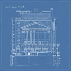 This stunning fine-art print is part of a limited-edition collection of New York City blueprints, available only through The Times Store.The New York Stock Exchange is one of five iconic landmarks captured in all their glory with these fascinating, histor Wall Street, Ny Times, Skyscraper, City Photo, Illustration Art, New York, Website, Tips, Bag