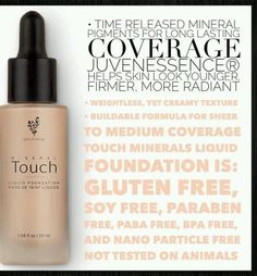 """Younique Touch Mineral Liquid Foundation It's no wonder it is being called photoshop in a bottle. """"Liquid Gold"""" Our foundation gives amazing coverage. Goes on as a liquid and dries as a powder. Contact me for help with color matching. www.Youniqueproducts.com/VictoriasFabulousLashes/party/3874381/view"""