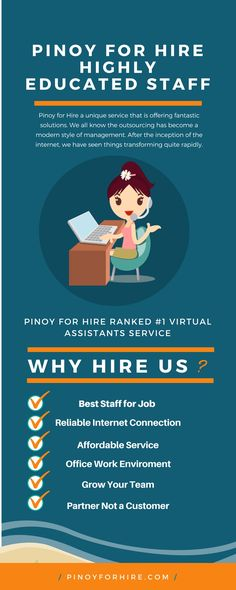 """#PinoyForHire Highly Educated Staff. This service, """"Pinoy for hire"""" is an extension of the already existing outsourcing websites."""