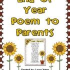 This is a sweet poem (not written by me) to share with parents at the end of the year.  Just a poem to express how much you enjoyed having their st...