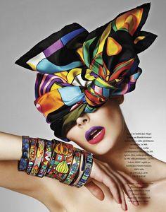 Drama of fashion. Great color!