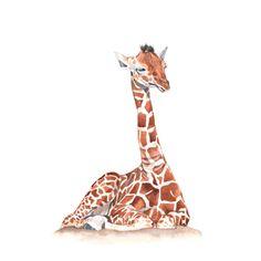 Giraffe ORIGINAL watercolour painting by LouiseDeMasi on Etsy