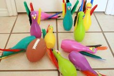 Thanksgiving Games for the kids - Turkey Bowling    from makeandtakes.com pinned with @PinvolveLove