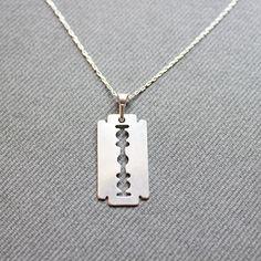 Sterling Silver Razor Necklace  Razor Charm by LibertaFashion, $21.00