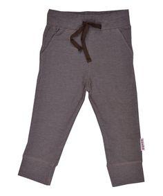 Baba Babywear super cool slim pants in chocolate brown. baba-babywear.en.emilea.be