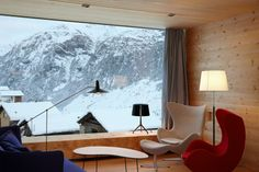 Chalet di design in montagna - Living