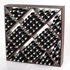 Jumbo Bin 120 Bottle Wine Rack (Mahogany) - Wine Enthusiast