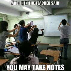 This day and age, this is how #notes are taken in #school.