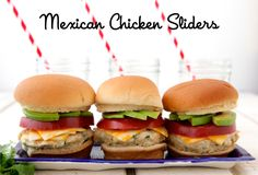Mexican Chicken Sliders on Weelicious
