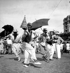 Frevo dance in Recife, 1947. Image by the great French-Baiano photographer Pierre Verger.