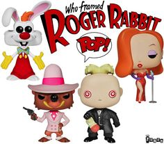 Funko POP set of 4, Disney's Roger Rabbit and Jessica Rabbit