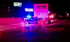 Crews respond to the scene of a fatal pedestrian accident on I83 - February 28, 2012